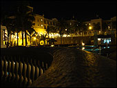 Free Desktop Background.  RIU Palace resort at night in Los Cabos, Mexico.