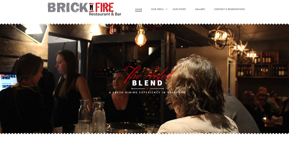 Recently we created a brand new website for Brick N Fire restaurant in Bradford Ontario. Dina and Dave are the owners of Brick N Fire and approached us to create a beautiful, captivating, visually stimulating and effective website for their new restaurant.