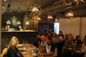 Room for Parties at Brick N Fire Restaurant in Bradford